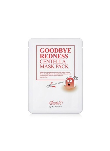 Benton Goodbye Redness Centella Mask Pack - Yatıştırıcı Kâğıt Maske Renksiz